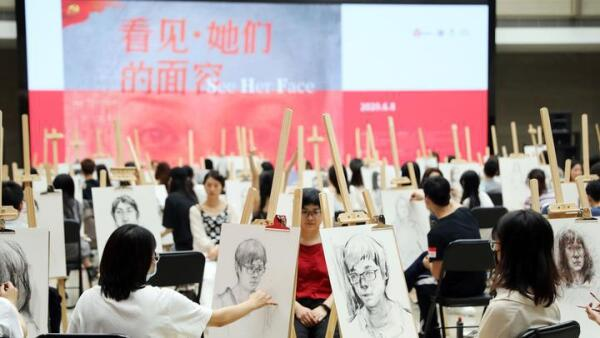 Featured: Live painting event held for female medical workers supporting Hubei during the COVID-19 pandemic