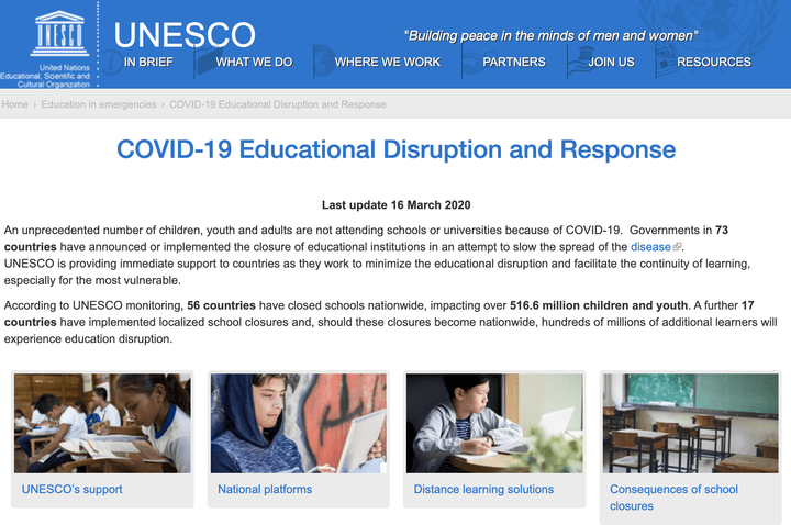 DingTalk Recommended by UNESCO for Distance Learning 联合国推荐全球学生使用钉钉远程上课
