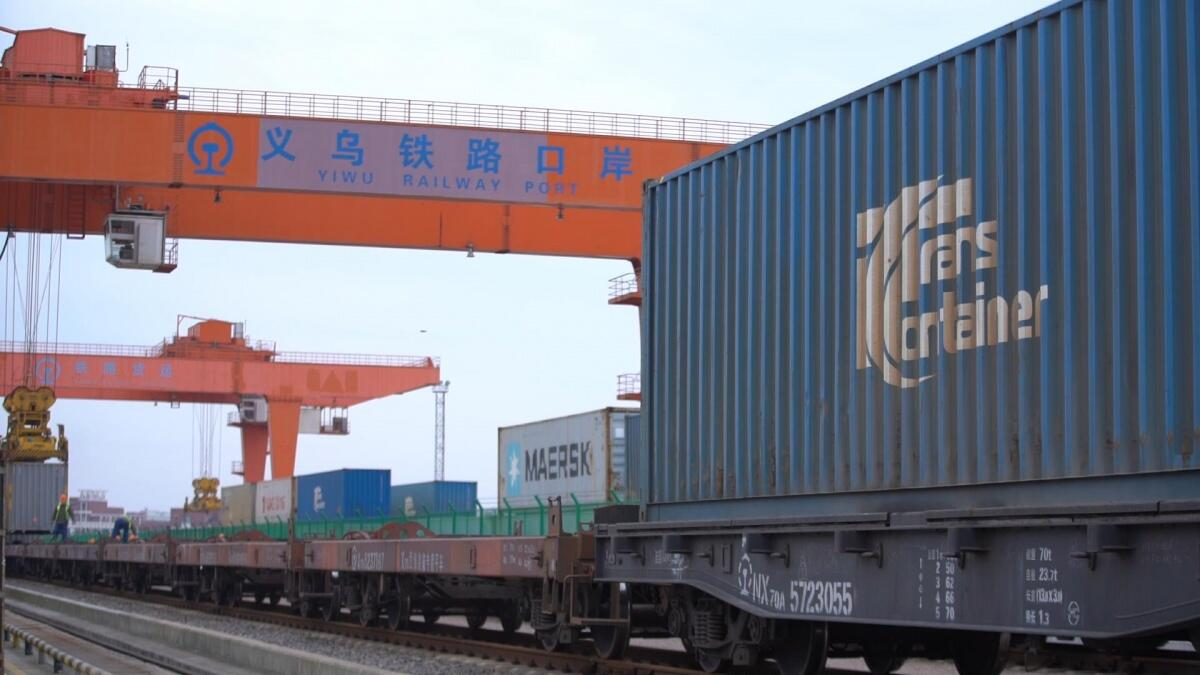 Yiwu-Madrid China-Europe freight trains to offer free delivery service for COVID-19 prevention materials 义乌—马德里中欧班列将为防疫物资提供免费运送服务