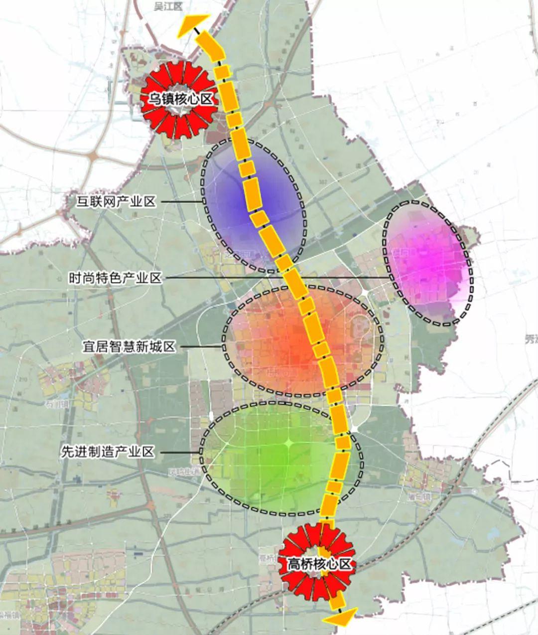 为全力打造数字经济新高地,桐乡规划了125平方公里的乌镇大道科创集聚图片