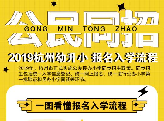一图看懂:2019杭州幼升小报名入学流程