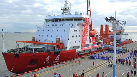 中国第35次南极科学考察队出征