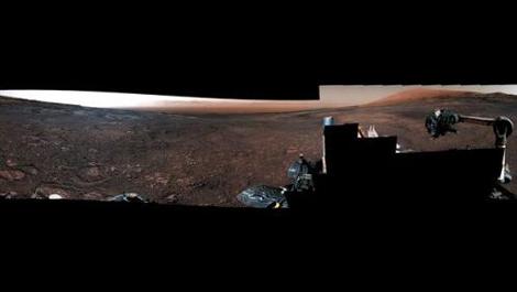 """火星长这样?""""好奇""""号火星车拍摄火星全景(图)"""