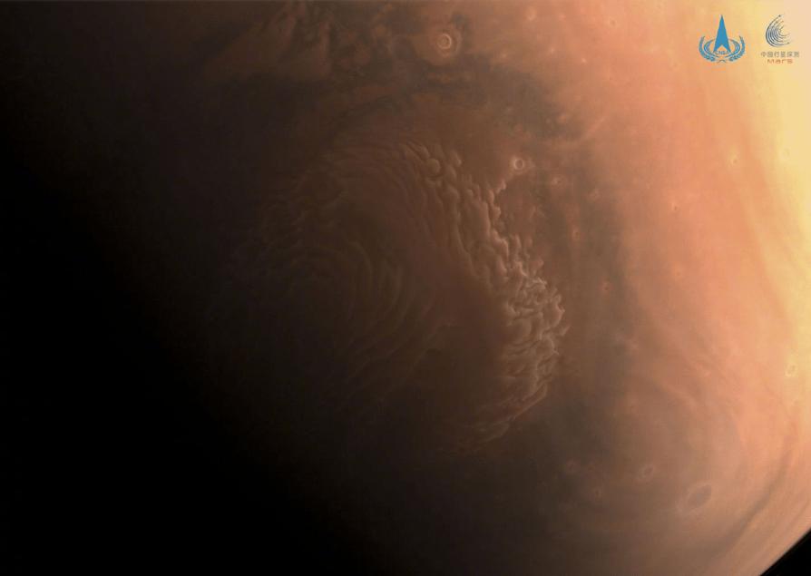 酷!天問一號拍了三張火星高清照