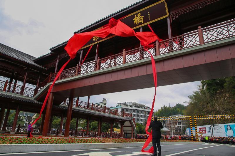 景宁实验二小_总长64.2米 廊桥高度10米 景宁这座备受瞩目的桥回归啦