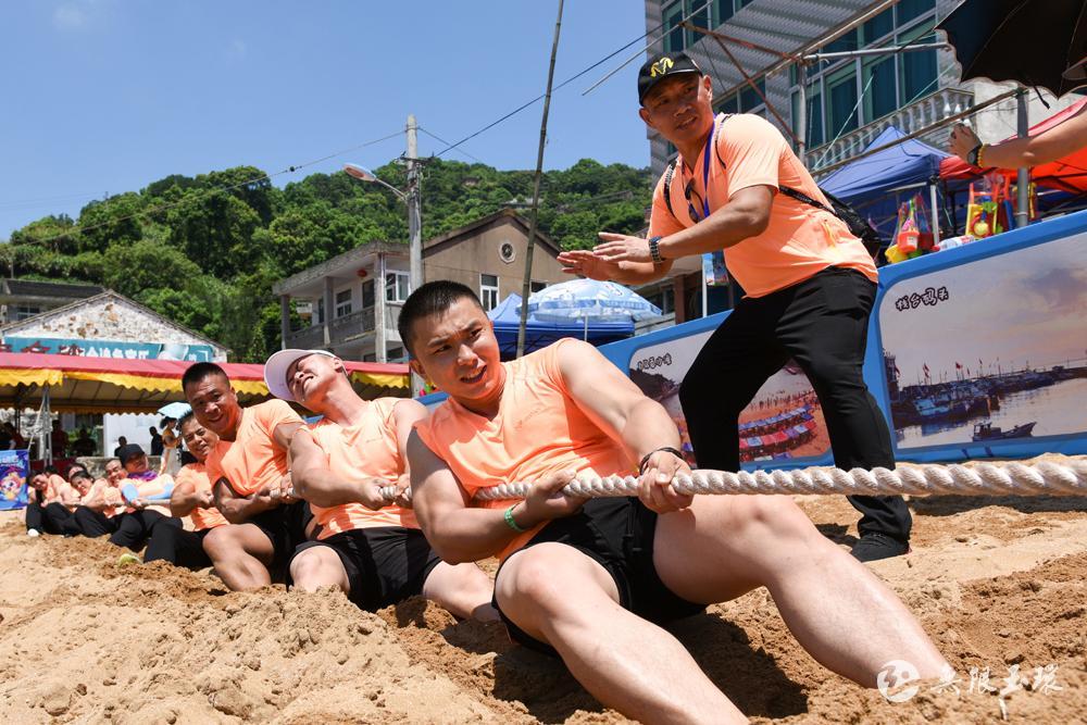 海洋运动会沙滩拔河比赛开幕 赴一场海洋体育文化旅游盛会