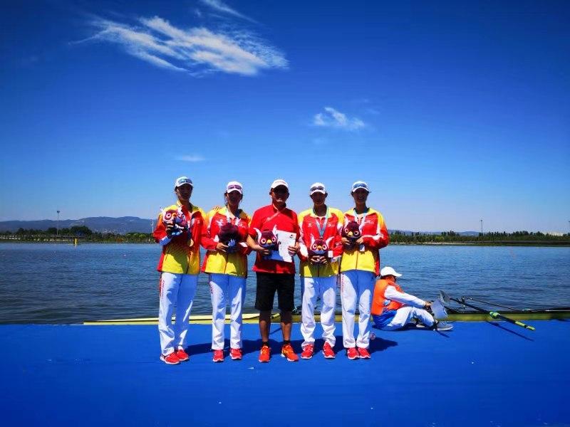 第二届全国青年运动会上 浙江女子赛艇勇夺两金