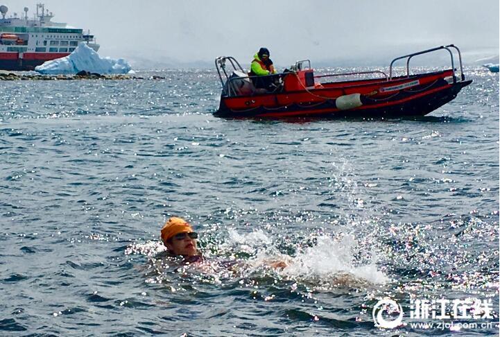 50多名中国游客中,只有我一头扎进了南极冬泳