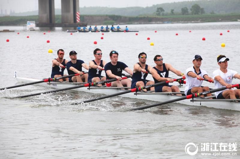 名校学霸们在绍兴推桨起航 中外名校赛艇挑战赛下周开赛