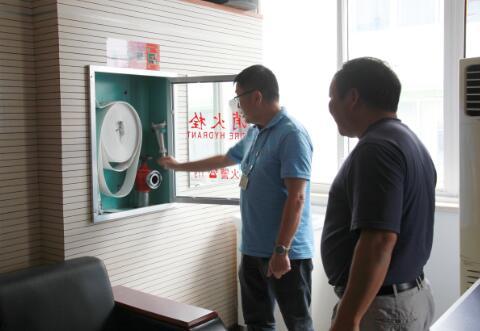 杭州市计生站迎接委属单位互查组进行安全生产检查