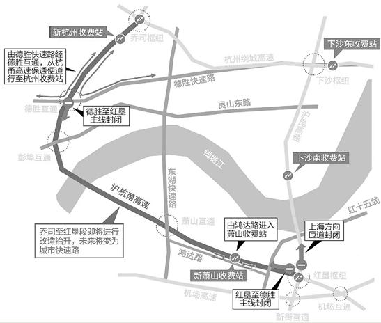 沪杭甬高速杭州收费站为什么要搬 以后怎么开车去上海