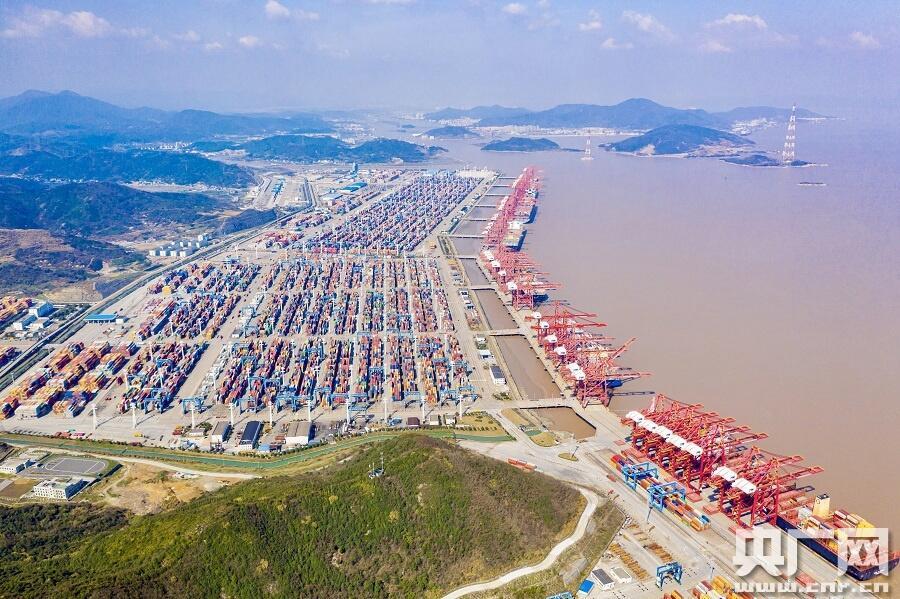 央廣網丨寧波舟山港一季度集裝箱吞吐量預計超768萬標準箱