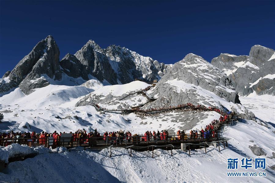 云南丽江玉龙雪山 南方冬季旅游好地方