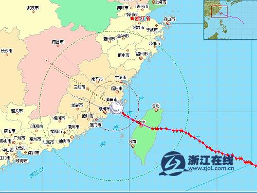 台风 泰利 登陆图