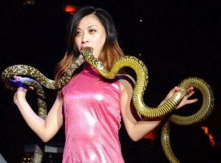 绝活:美女吞蛇费