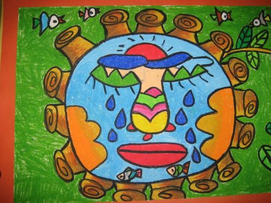 幼儿绘画全国拿大奖图片