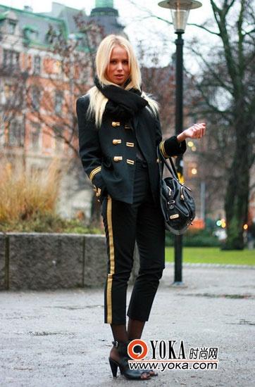 9分萝卜裤搭配高跟鞋-欧美潮人穿出超模身材