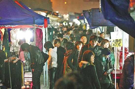 义乌 Night Market: 夜市小商品摆摊图片