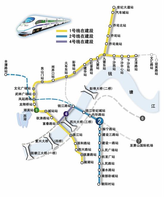 杭州地铁一号线下沙站在哪图片