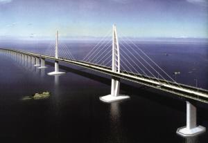 世界最长跨海大桥港珠澳大桥开建