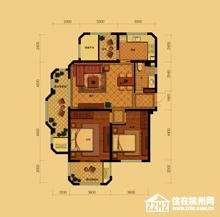 公寓D户型(约90�O)