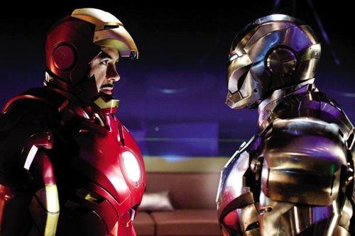 """""""钢铁侠""""和""""战争机器""""-钢铁侠2 明日上映 钢铁侠不是英雄,是偶像"""