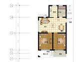 2#楼偶数层平面E户型