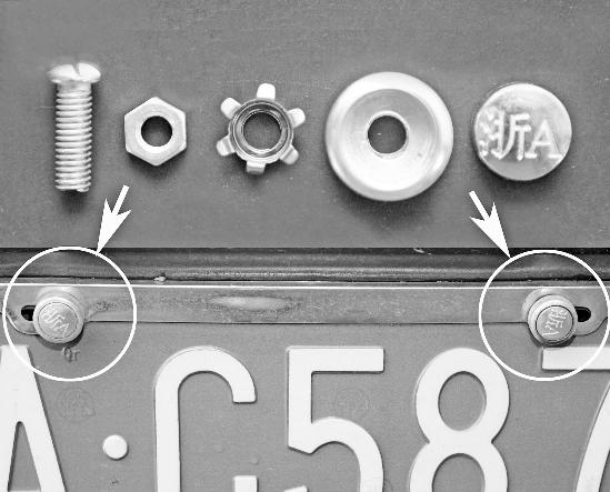 用方法固)�_车牌固封螺丝升级啦 如不按规定使用将被扣6分(图)