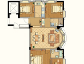 九衡公寓d1-118平米户型