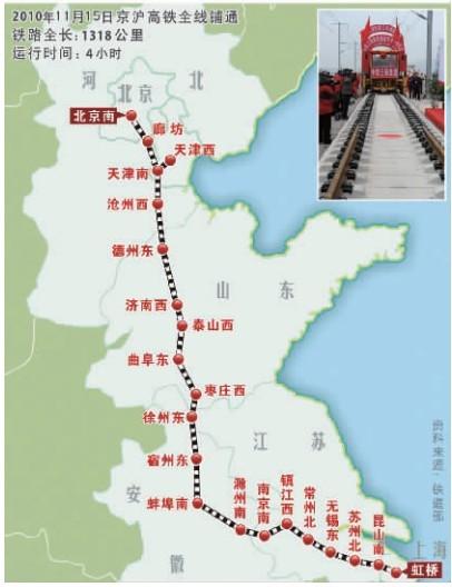 刘志军/15日上午,铁道部部长刘志军和京沪高铁施工单位职工代表,在...
