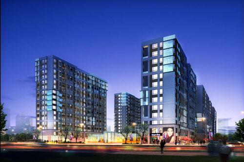 悦loft的空中庭院师法马赛公寓的公共集会空间,在每幢建筑中均设计图片