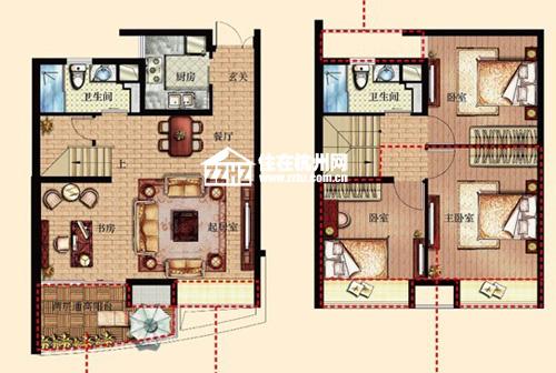 金隅·观澜时代100㎡复式四室同堂即将公开图片