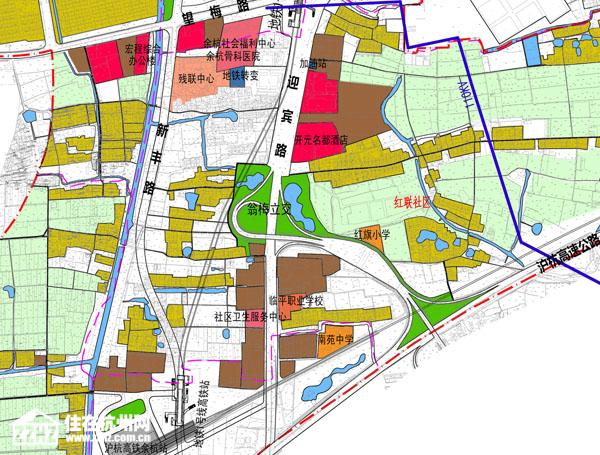 臨平新城地塊緊鄰地鐵一號線南苑站圖片