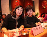 洲际房产营销总监 赵洁(右)
