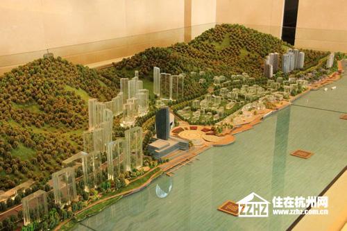 农村外观半岛——富阳最大的滨水综合体,体量57万方西郊沙盘别墅图片