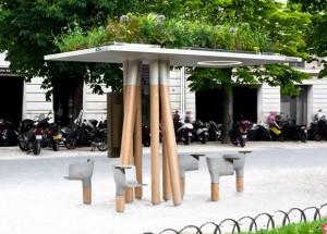 绿色的城市公共设施图片