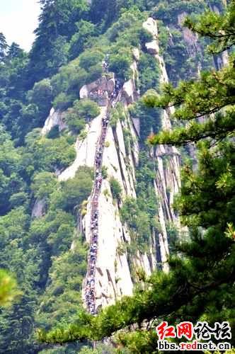 华山的千姿万态被有声有色的勾画出来,是国家级风景名胜区.