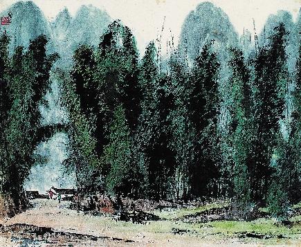 百年山水画的演变图片