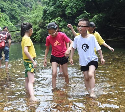 杭州:远离热闹景区  郊外溪涧嬉水