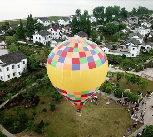 海宁:乘热气球 空中看美丽乡村