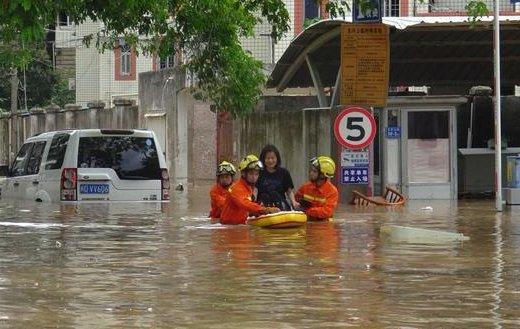 福建厦门遭遇特大暴雨