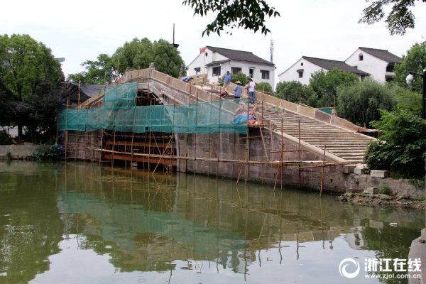 杭州:欢喜永宁桥主体修复基本完毕