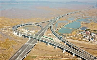 浙江沿海高速公路象山至乐清段通车