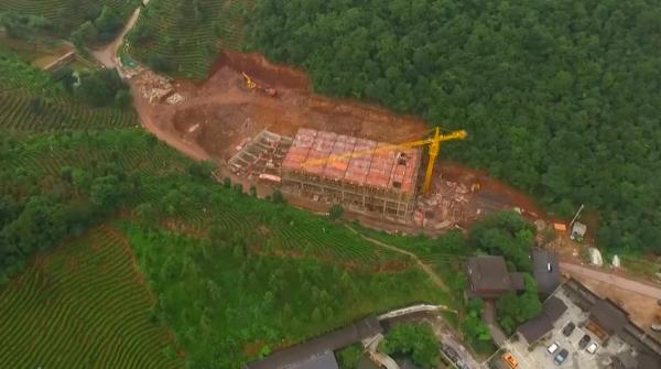 安吉:宋茗公司占用大量林地违建经营项目