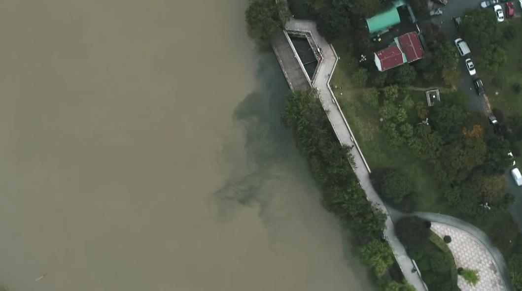 杭州:浣纱河暗渠超标污水排入京杭运河
