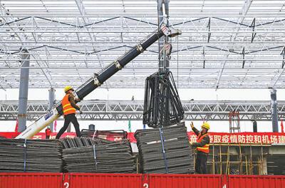防疫復工齊抓(zhua) 機場擴建正忙