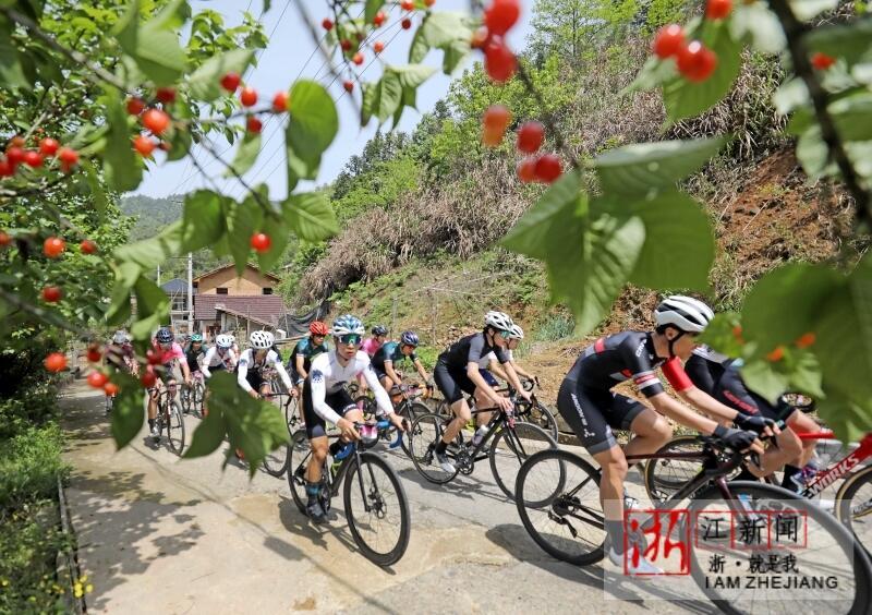 杭州:樱桃之乡举办自行车越野赛