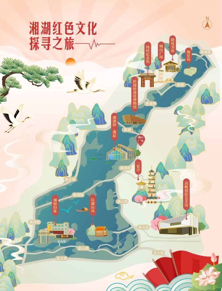 """杭州湘湖发布红色旅游线路 """"一南一北""""串联百年"""