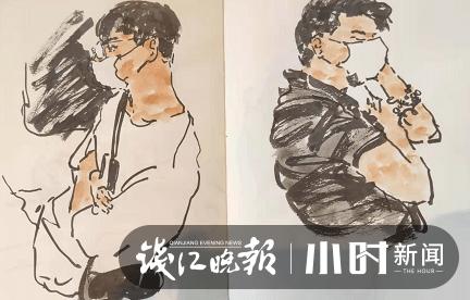 一支笔一个本 几分钟一张画 杭州地铁速写哥记录偶遇的你