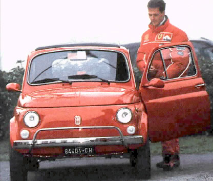 舒马赫拥有的第一辆汽车是菲亚特500高清图片